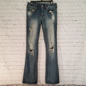 American Eagle☆Distressed Kick Boot Jeans